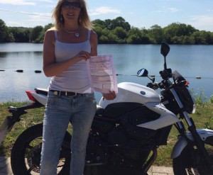 Shelley Brown passes her CBT in Staines