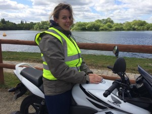 Hayley Silk passes CBT test with Motorcyle Training in Surrey