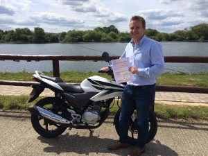 Tommy Warren passes CBT in Staines