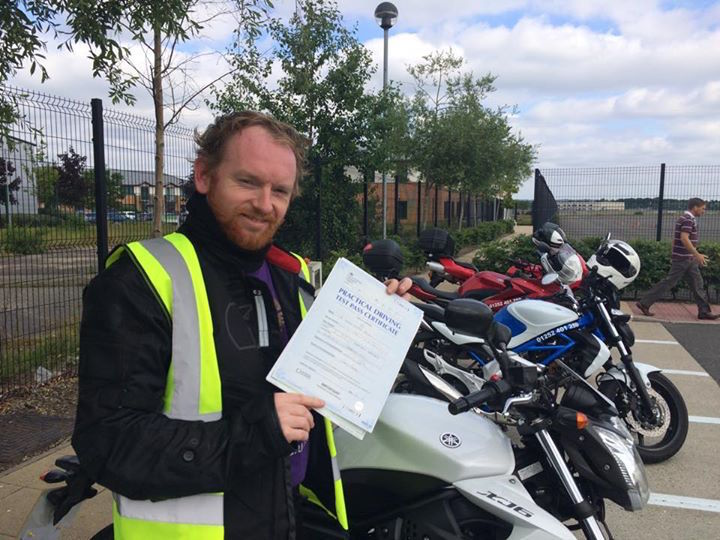 Dave Restell passes Module 2 at Farnbourough with DAS course from motorcycle training in surrey