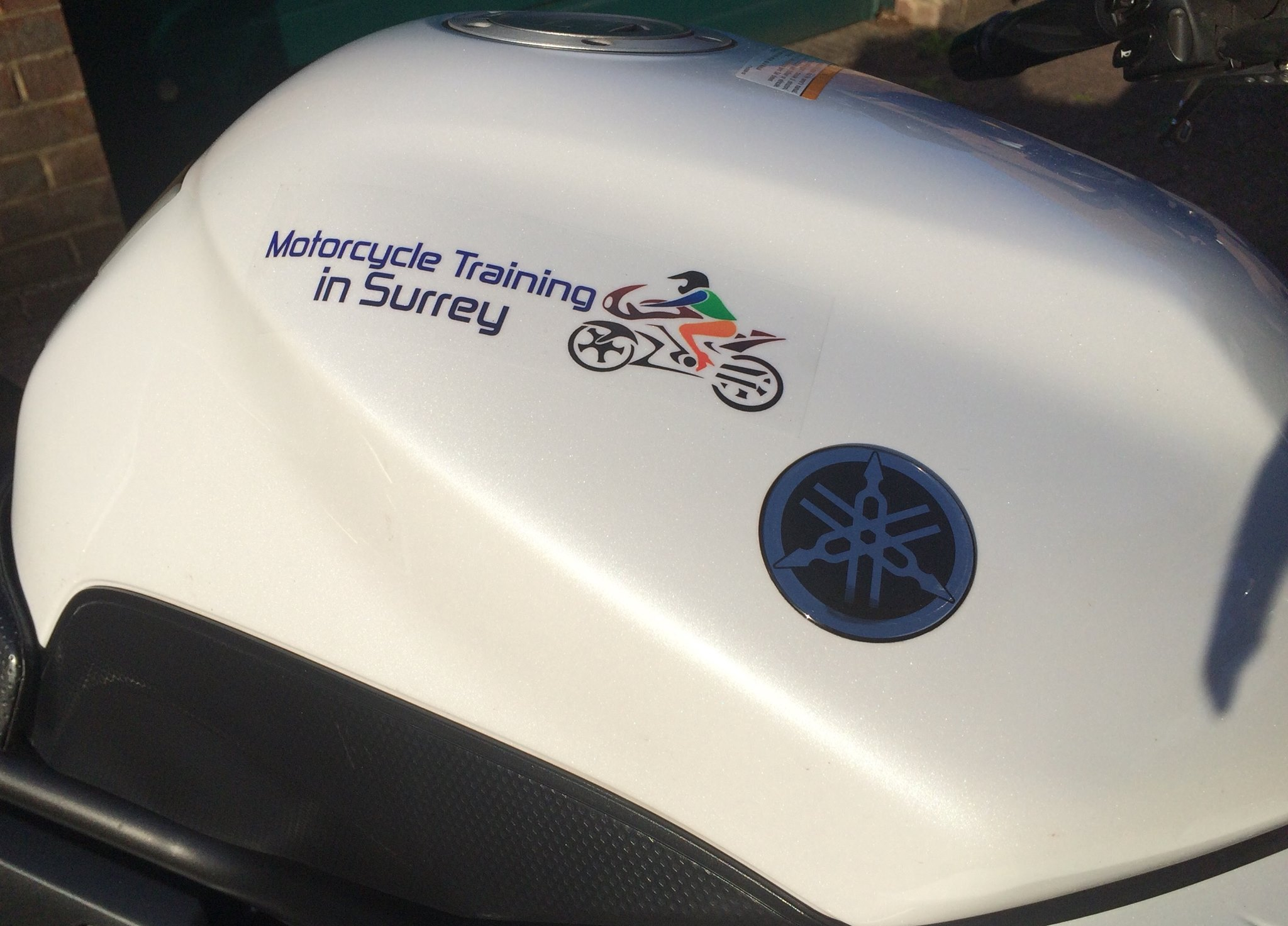 Motorcycle Training in Surrey branded bike