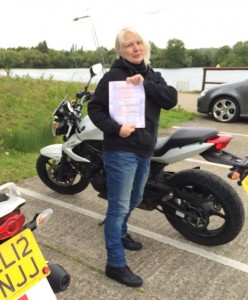 Suzi Eves passes her CBT in Staines