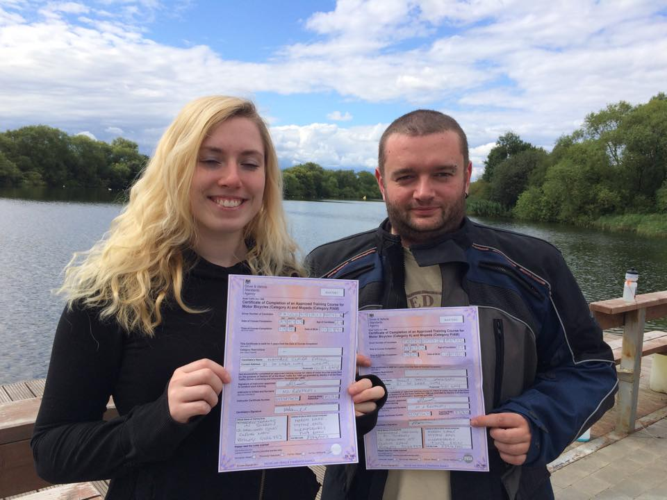 Nats Faull & Phil Jackson passed their CBT at Staines