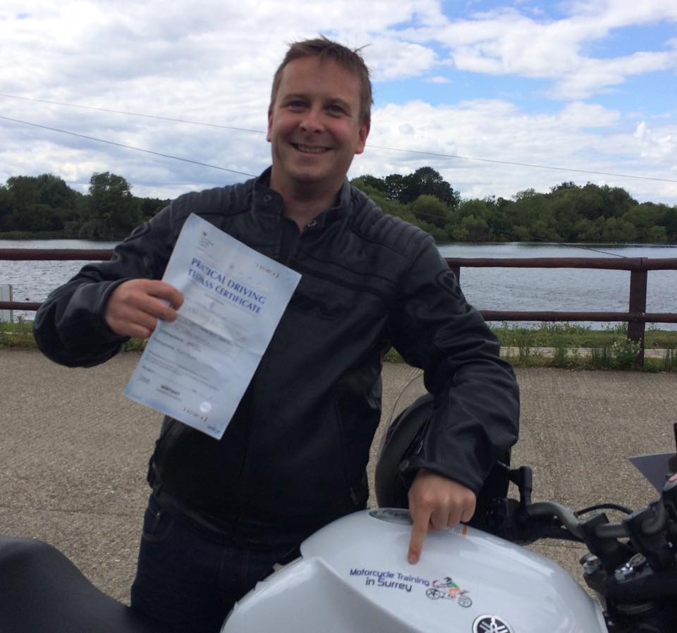 Tommy Warren passes Module 2 at Farnborough with Motorcycle Trainin in Surreys unique DAS course tailored to suit the rider not the training school Book Now