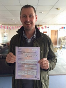 Craig Livingstone passes CBT at Staines