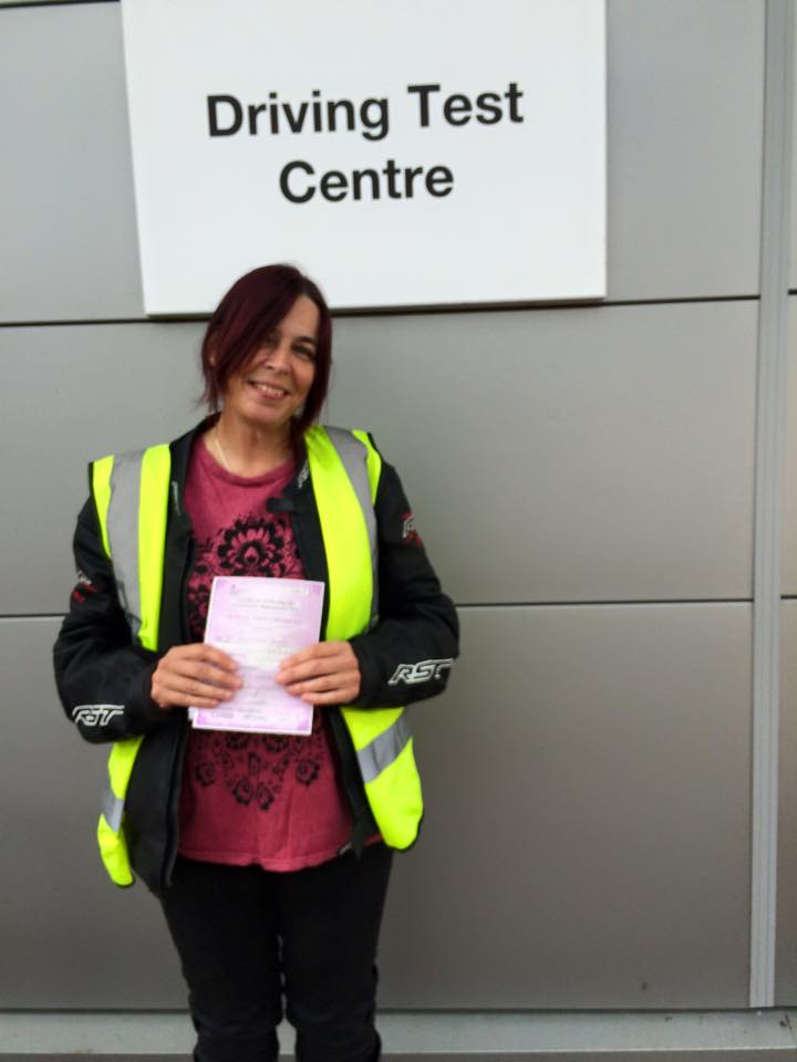 Sally Prince passes Module 1 at Uxbridge with Motorcycle Training in Surrey