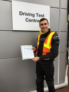Callum Russell passes Module 2 with Motorcycle Training in Surrey