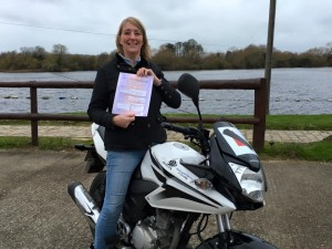 Sally Hounsham passes CBT at Staines with Motorcycle Training in Surrey