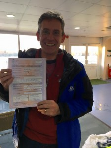 Chris Bellenger passes CBT at Staines with Motorcycle Training in Surrey