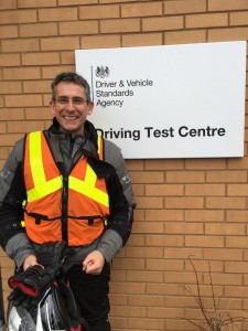 Allan Bellenger passes Module 1 at Farnborough with Motorcycle Training in Surrey