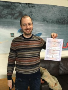 Emre Kokturk passes CBT at Staines with Motorcycle Training in Surrey