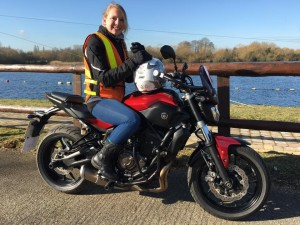 Sally Fletcher passes Module 1 at Uxbridge with Motorcycle Training in Surrey
