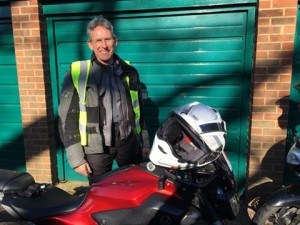 Allan Bellenger passes Module 2 at Farnborough with Motorcycle Training in Surrey