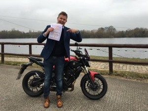 Jens Svedrup passes CBT at Staines with Motorcycle Training in Surrey