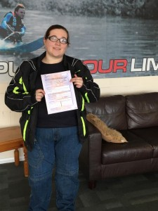 Louise Fegredo passes CBT at Staines with Motorcycle Training in Surrey