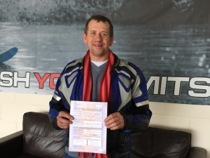 Robert Roughton passes CBT at Staines with Motorcycle Training in Surrey