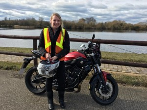 Sally Fletcher passes Module 2 at Uxbridge with Motorcycle Training in Surrey