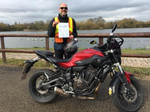 Andrew Tillet passes Module 2 at Uxbridge with Motorcycle Training in Surrey