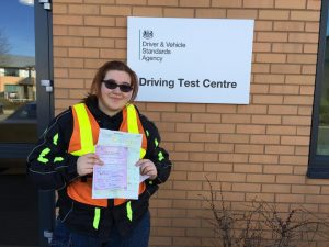 Louise Fegredo passes Module 1 at Farnborough with Motorcycle Training in Surrey