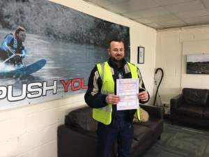 Tom McGrath passes CBT at Staines with Motorcycle Training in Surrey