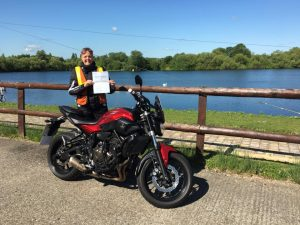 Hayley Austin passes Module 2 at Uxbridge with Motorcycle Training in Surrey