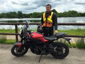 Cian Obroin passes Module 1 at Uxbridge with Motorcycle Training in Surrey
