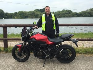 Rob Dunster passes Module 1 at Uxbridge with Motorcycle Training in Surrey