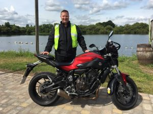 Rob Dunster passes Module 2 at Uxbridge with Motorcycle Training in Surrey