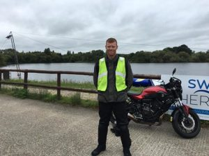 Tomas Maher passes Module 2 at Uxbridge with Motorcycle Training in Surrey