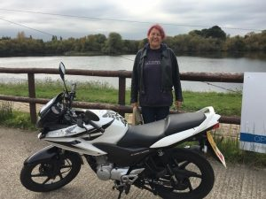 Jill Scotney passes CBT with Motorcycle Training in Surrey