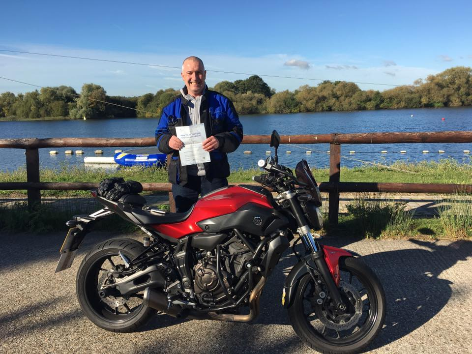John Shanahan passes Module 2 with Motorcycle Training in Surrey