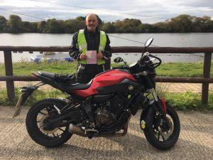 Rich Norris Passes Module 1 at Uxbridge with Motorcycle Training in Surrey