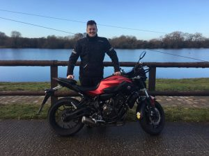 Rob Mansfield passes Module 1 at Uxbridge with Motorcycle Training in Surrey
