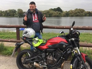 Dave Alderson passes Module 2 at Uxbridge with Motorcycle Training in Surrey