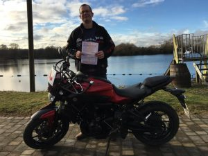 David Whiteley passes CBT at Staines with Motorcycle Training in Surrey