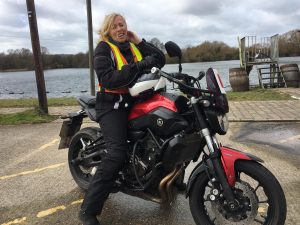 Sara Gilmour passes Module 1 at Uxbridge with Motorcycle Training in Surrey