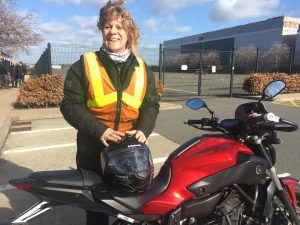 Heather Boyd-Phillips passes Module 1 at Farnborough with Motorcycle Training in Surrey