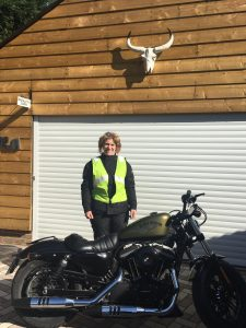 Heather Boyd-Phillips passes Module 2 at Farnborough with Motorcycle Training in Surrey