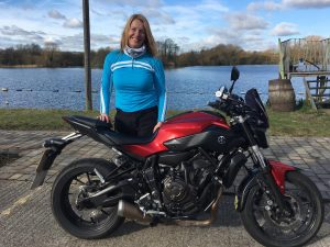 Kathryn Bruton passes Module 1 at Uxbridge with Motorcycle Training in Surrey