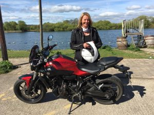 Kathryn Bruton passes Module 2 at Uxbridge with Motorcycle Training in Surrey