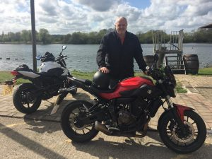 Tony Springer passes Module 1 at Uxbridge with Motorcycle Training in Surrey's direct access course